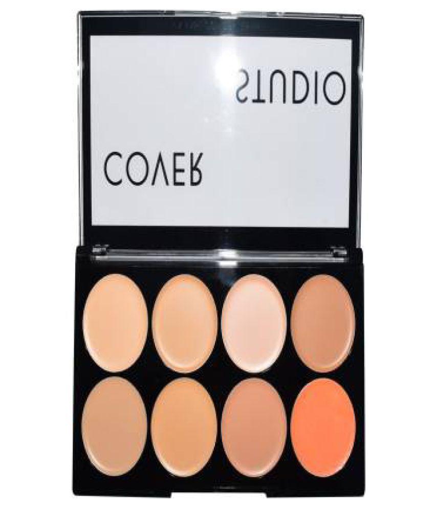 Platinum Ultra Base Cover Studio Concealer Loose Powder Palette-02 Light 16 g