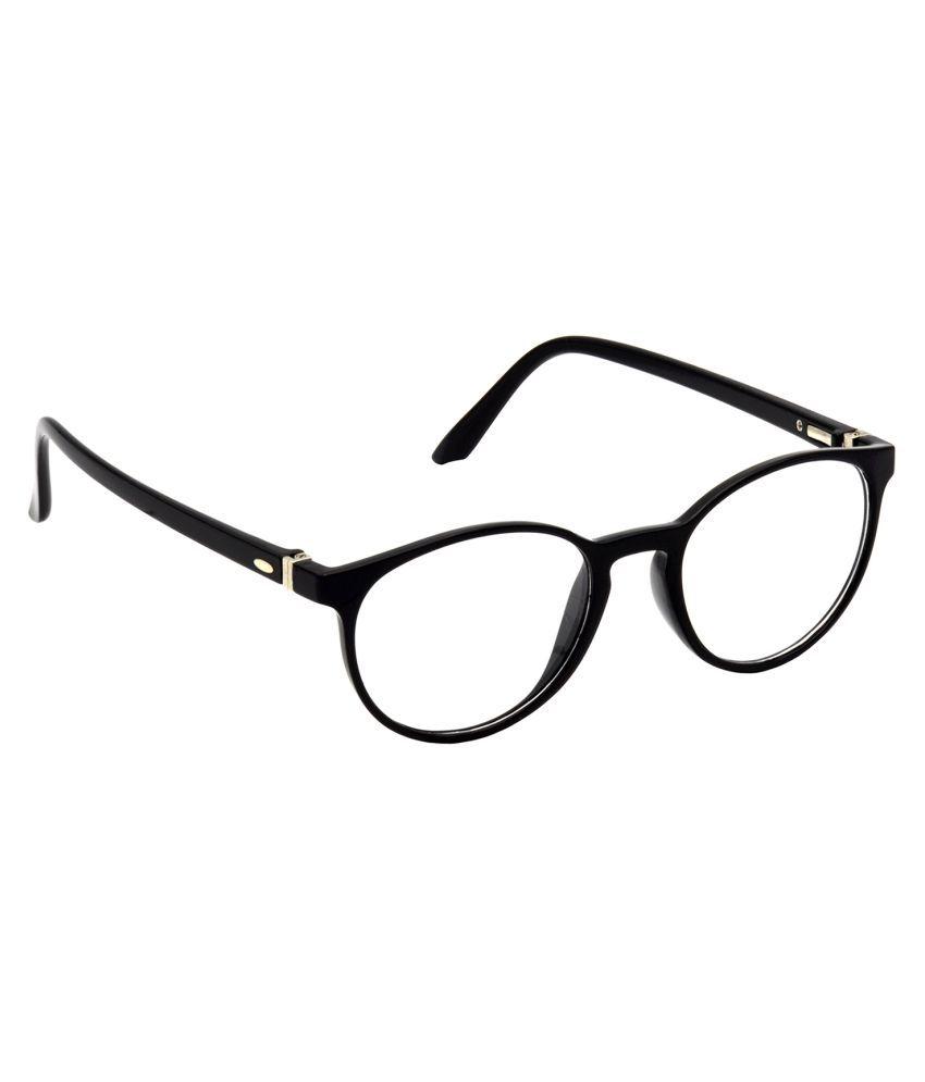Hrinkar Black Oval Spectacle Frame HFRM-BK-14_1