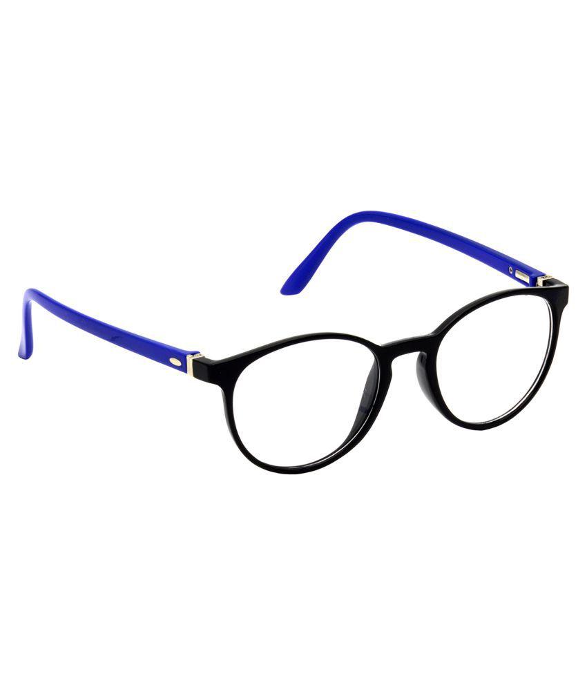 Hrinkar Blue Oval Spectacle Frame HFRM-BK-BU-14_1