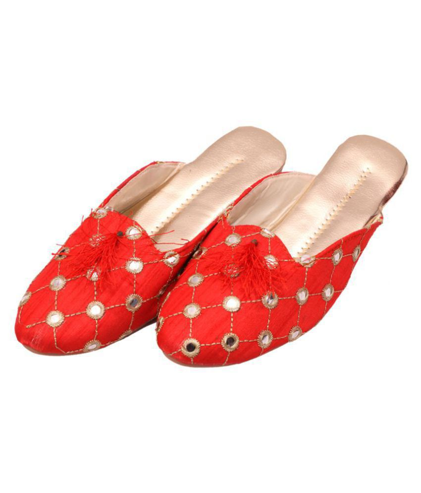 Raj Red Ethnic Footwear