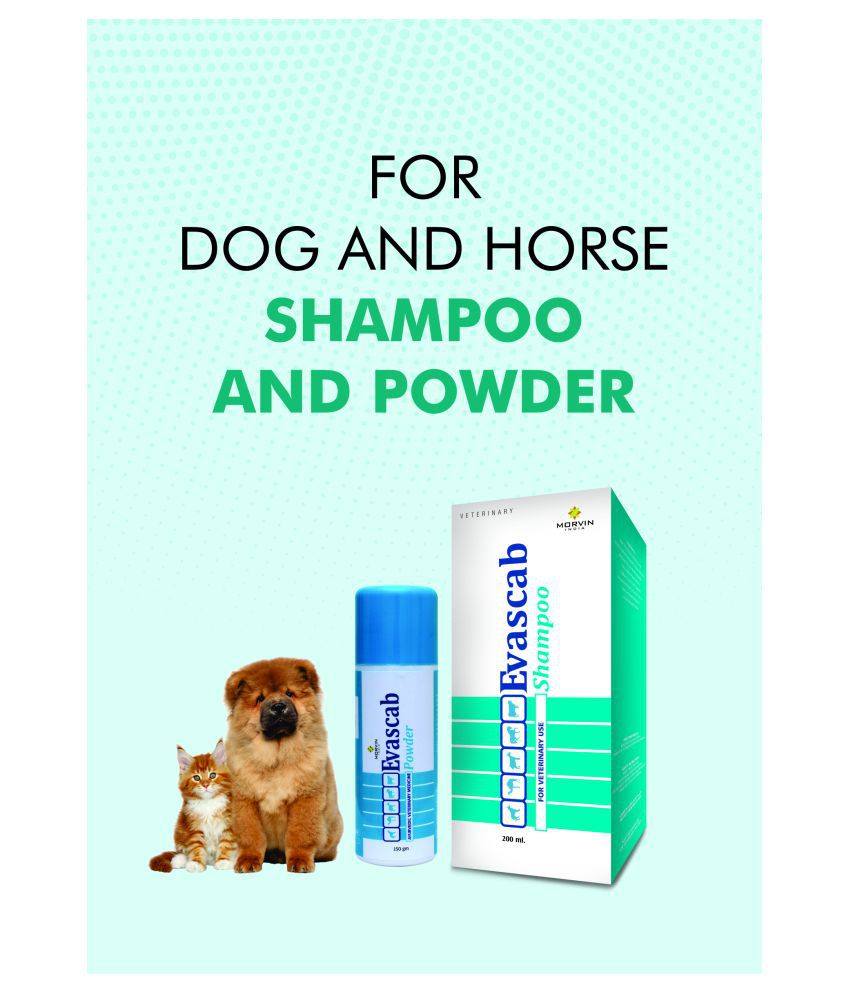 Evascab Shampoo 200ml + Evascab ayurvedic veterinary medicine powder 1