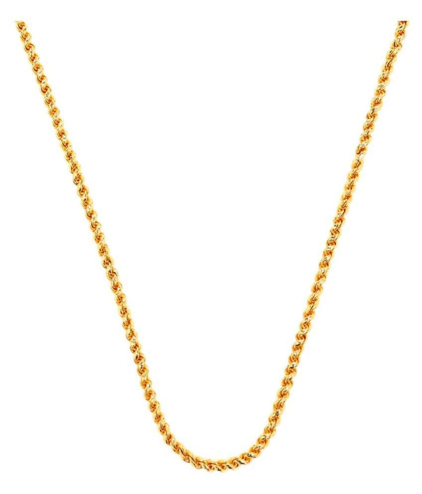 GoldNera Gold Plated Twisted Chain
