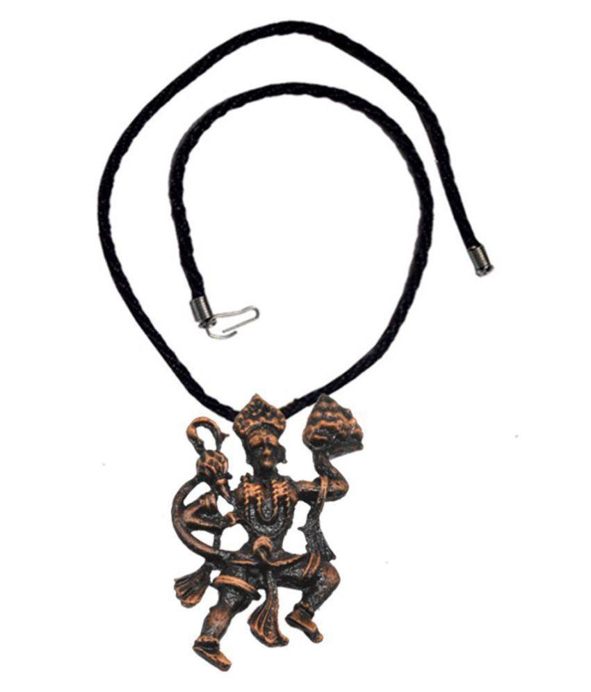 Men style Religious Jewelry Lord Hanuman Locket With Cotton Dori Chain Rhodium Copper, Cotton Dori Pendant