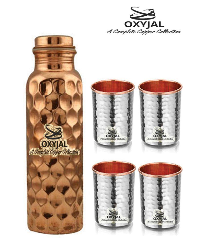 OXYJAL Copper Bottle Gift 5 Pcs Lemon set