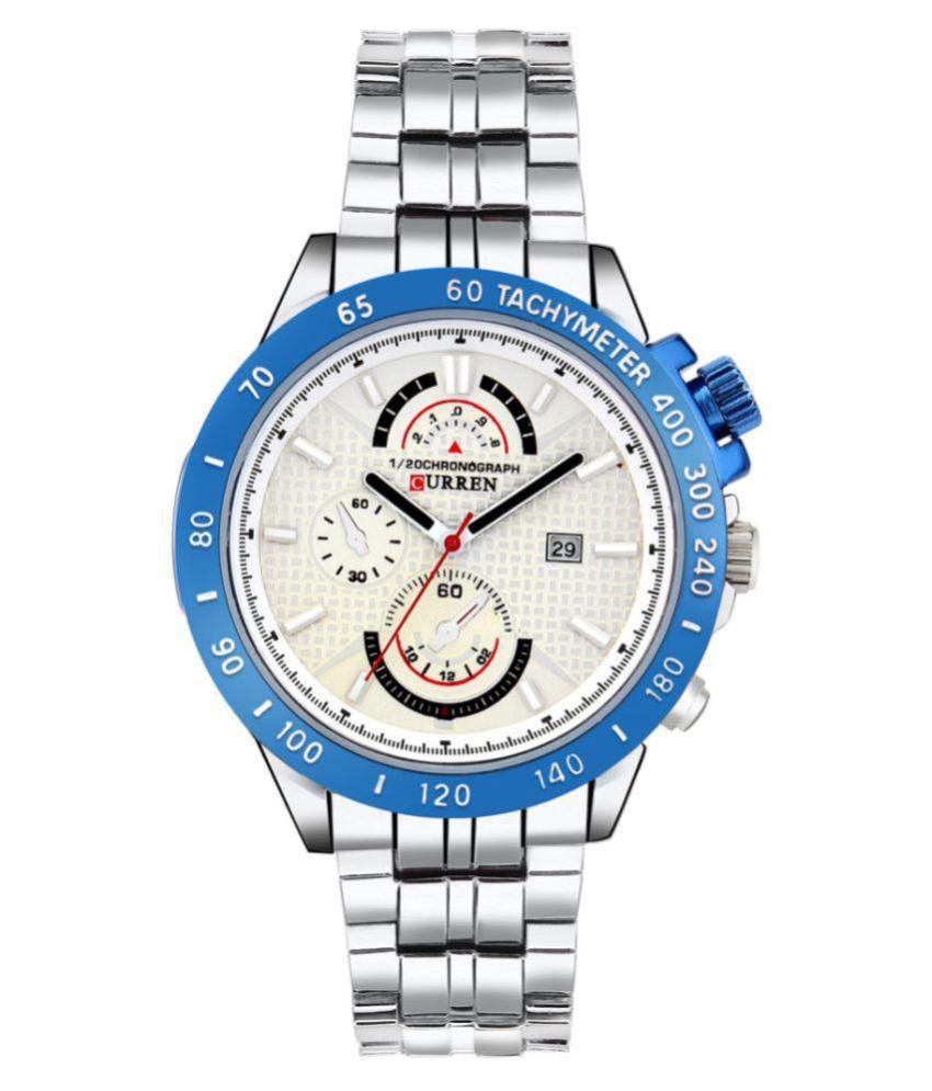 Curren Stainless Steel Chronograph Men #039;s Watch