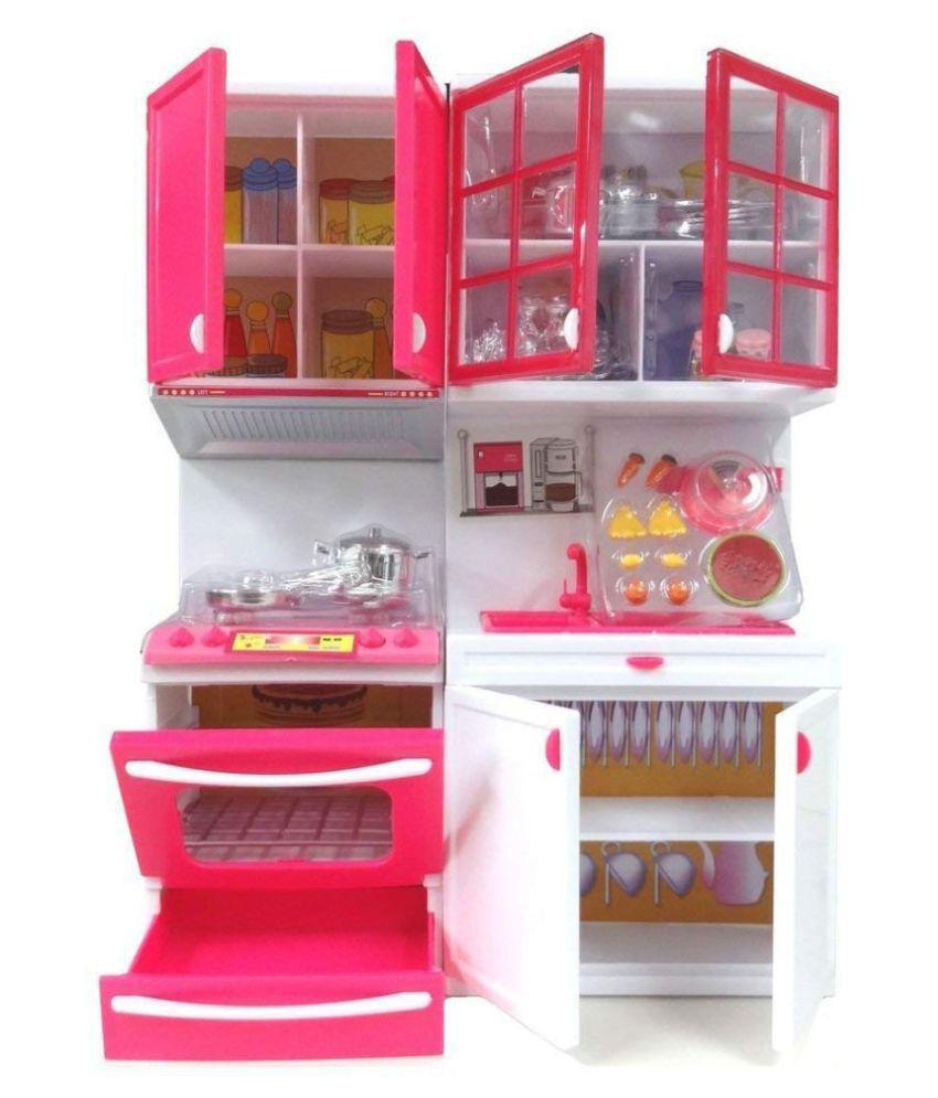 Maruti Enterprise Barbie Modern Kitchen Set Buy Maruti Enterprise Barbie Modern Kitchen Set Online At Low Price Snapdeal