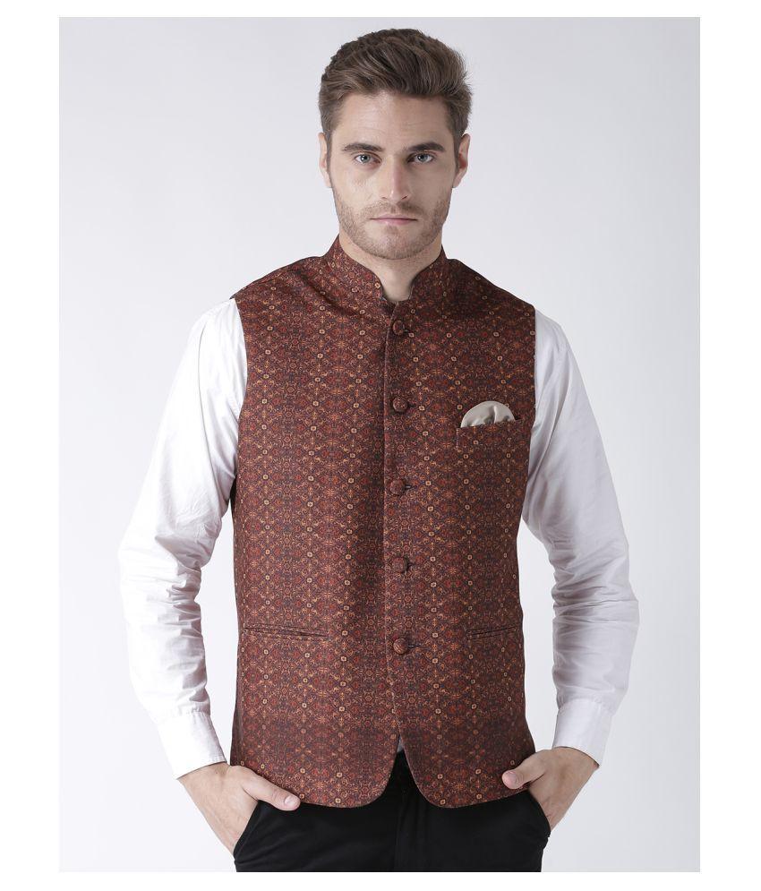 Hangup Multi Cotton Blend Nehru Jacket