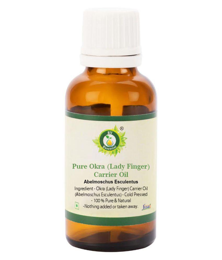R V Essential Pure Okra (Lady Finger) Oil Carrier Oil 50 mL
