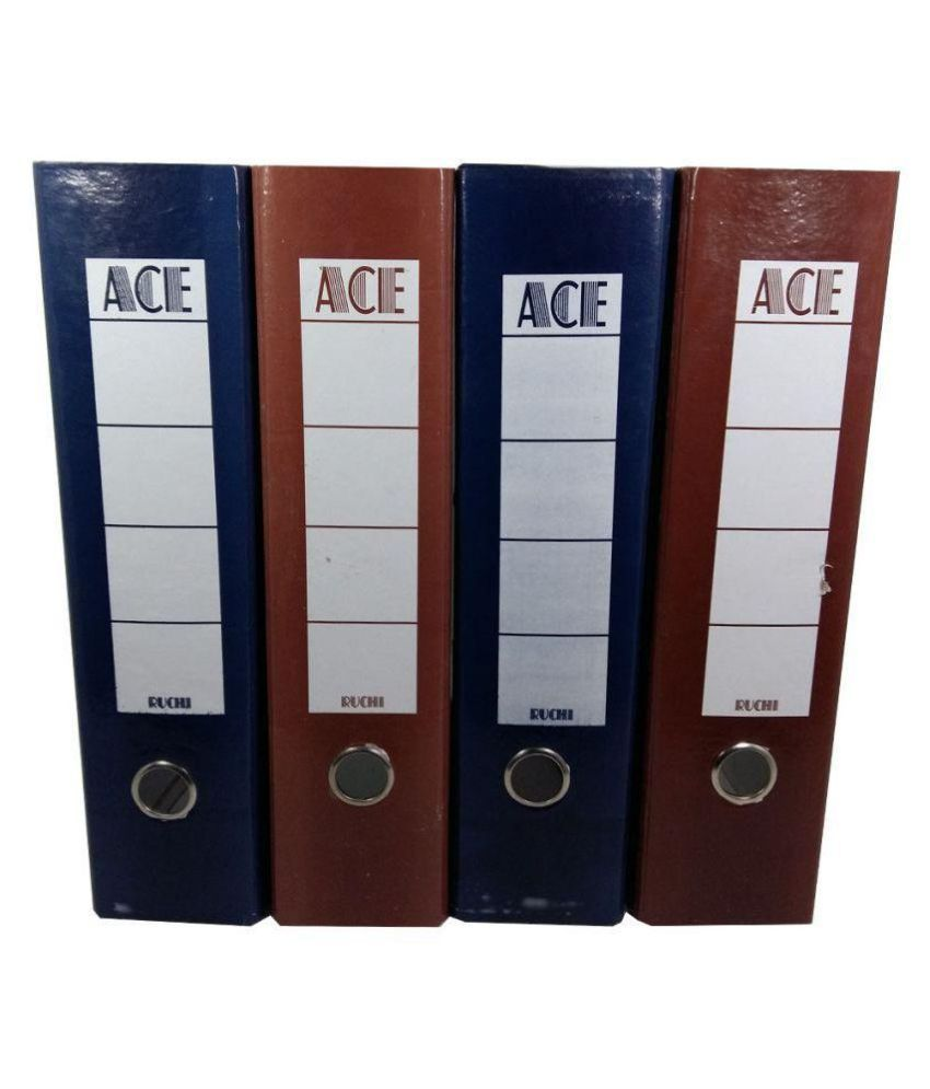 Ace Laminated Box File (Set of 4 nos.) Big Size