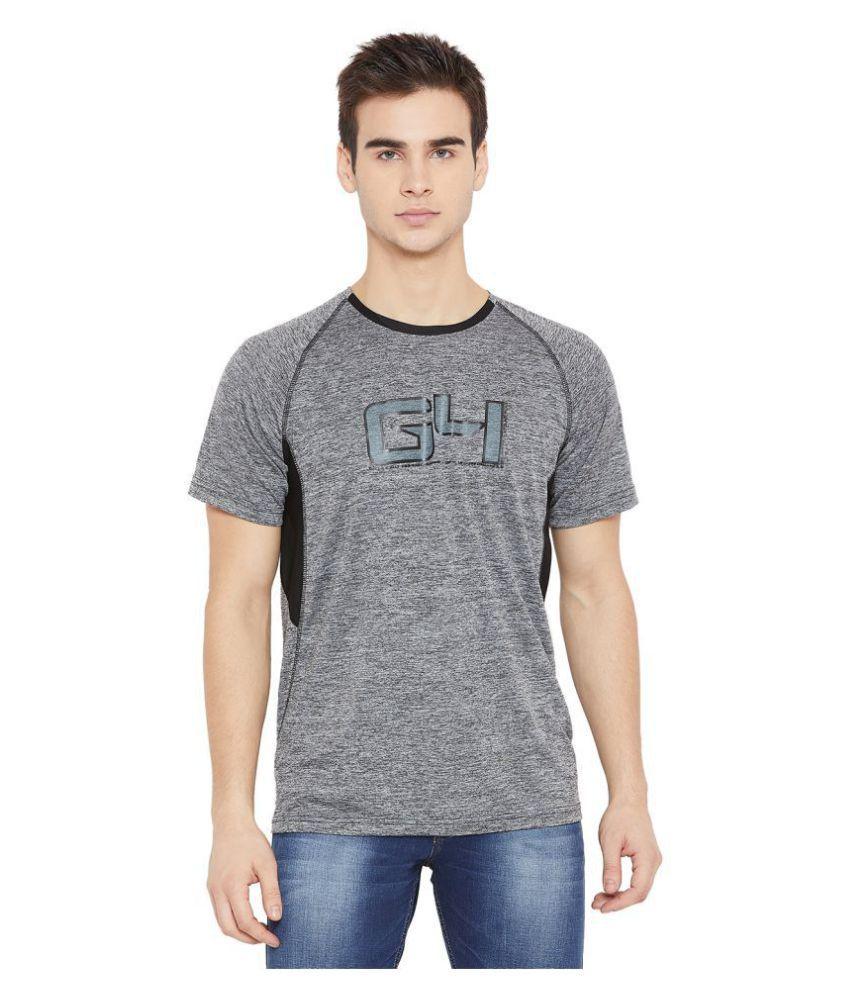Duke 100 Percent Cotton Grey Printed T-Shirt