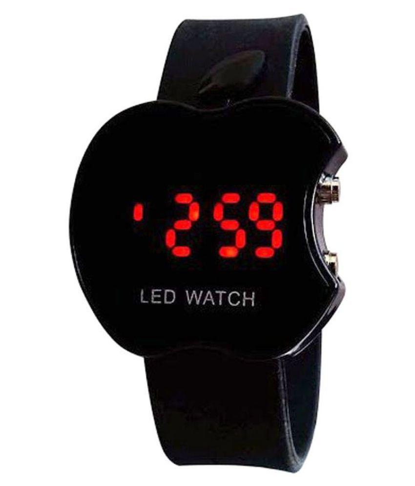 chaya fashions  Apple Shape led  Black Digital watch