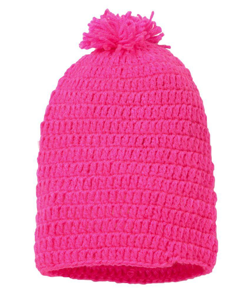 CHUTPUT Pink Pom Pom Cap