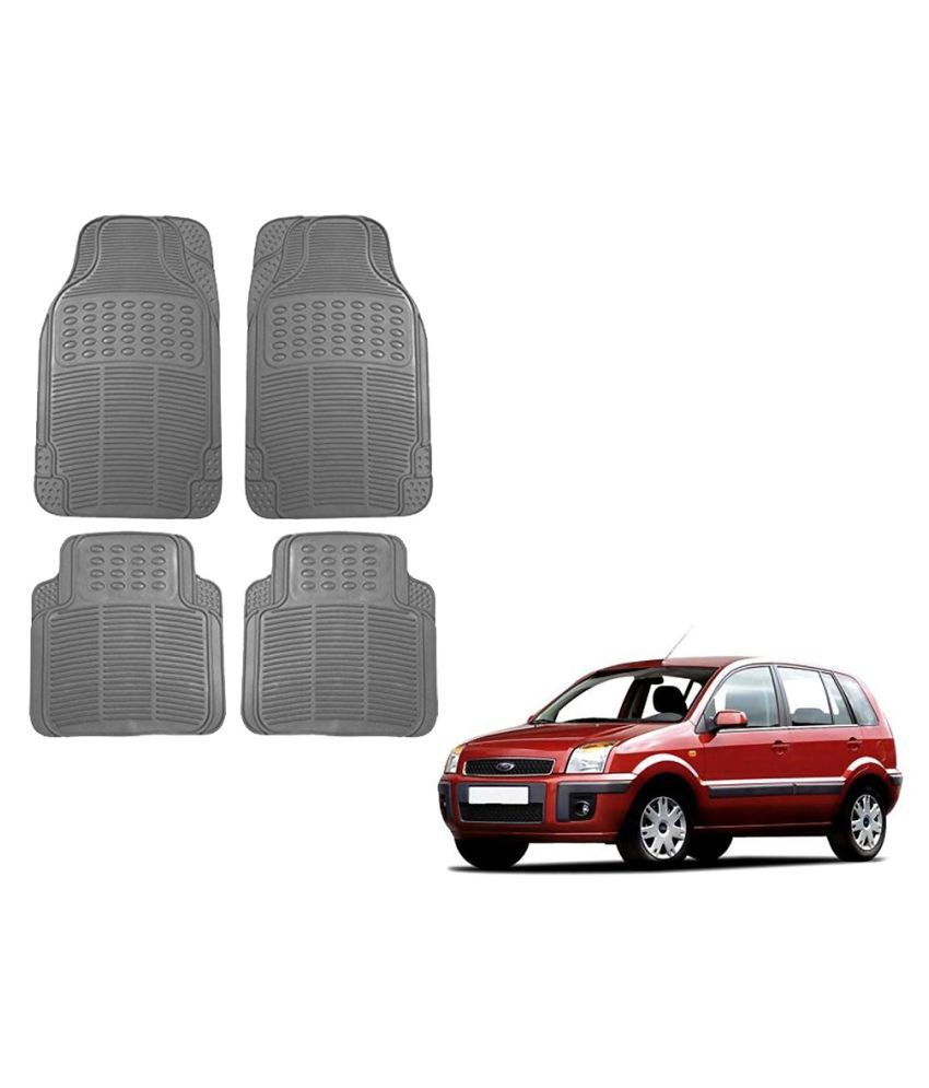 Auto Addict Car Simple Rubber Grey Mats Set of 4Pcs For Ford Fusion