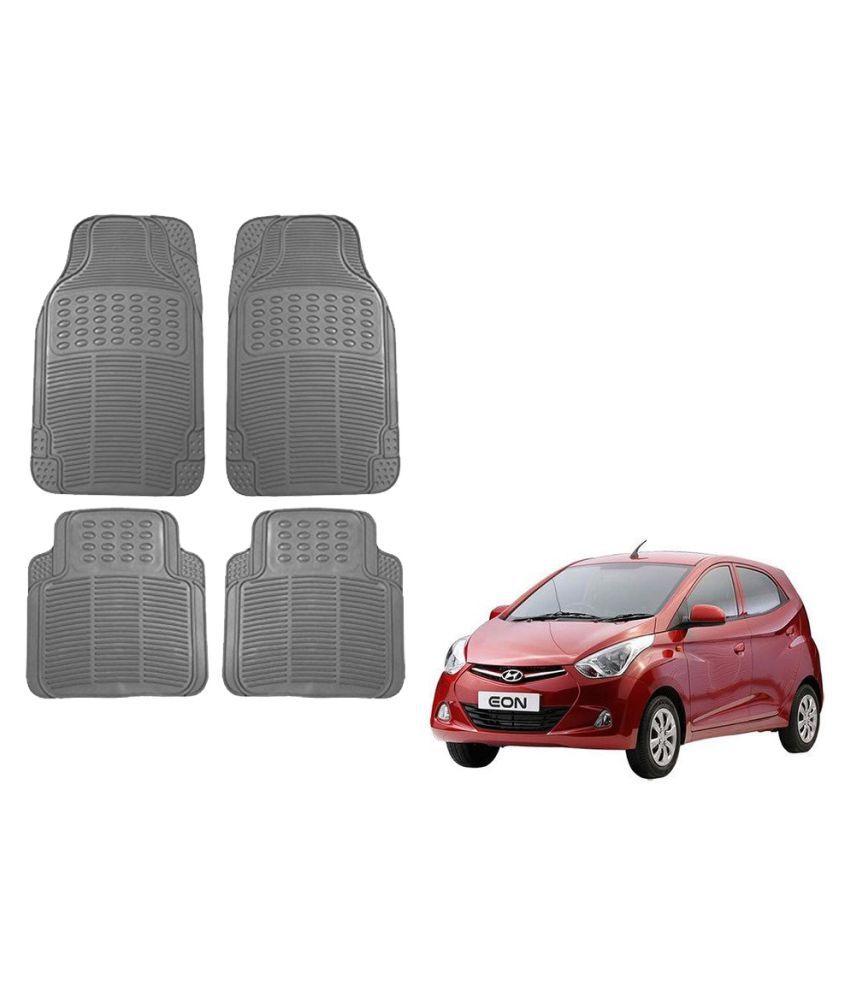 Auto Addict Car Simple Rubber Grey Mats Set of 4Pcs For Hyundai Eon