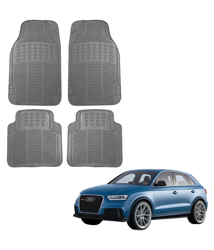 Auto Addict Car Simple Rubber Grey Mats Set of 4Pcs For Audi Q3