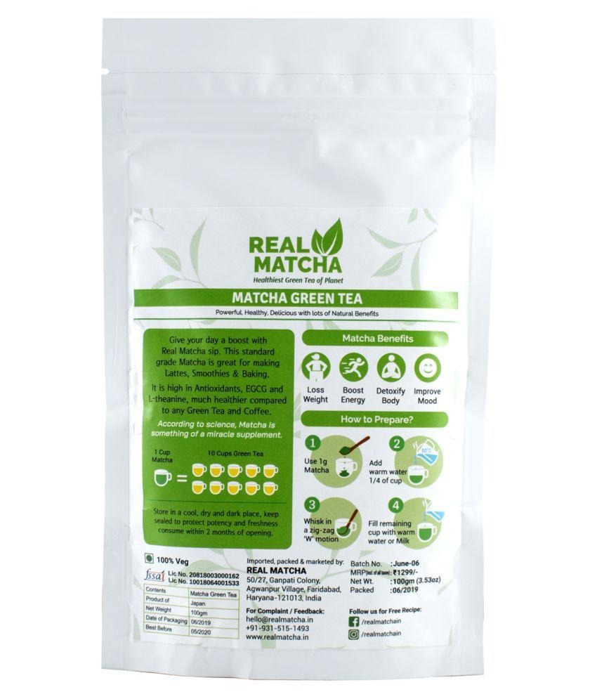 Real Matcha Green Tea Powder 100 gm: Buy Real Matcha Green ...