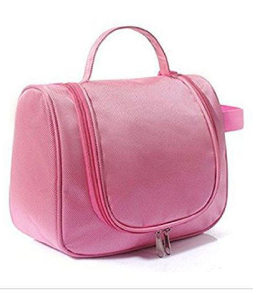 Everbuy Pink Toiletry Bag Kit Travel Organizer Cosmetic