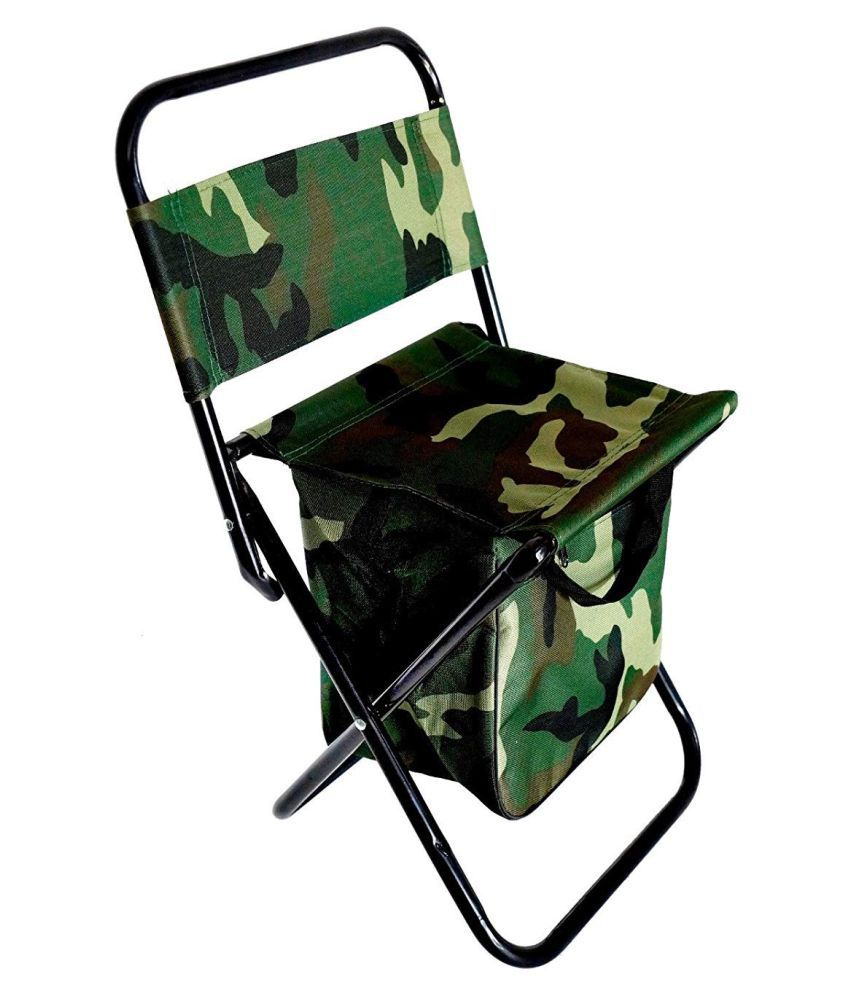 Astonishing Yutiriti Compact Foldable Camping Stool Chair Zippered Compartment Green Pdpeps Interior Chair Design Pdpepsorg