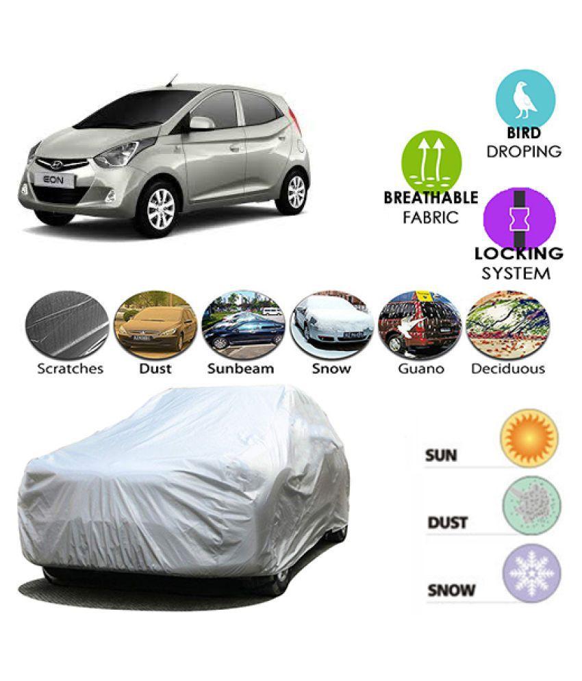 ANLOPE Car Body Cover for Hyundai Eon [2011-2015] (Silver)