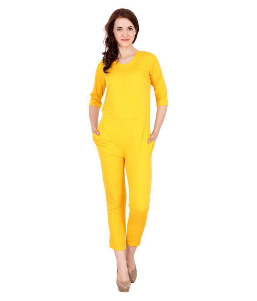 My Swag Yellow Crepe Jumpsuit