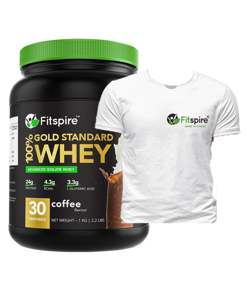 Fitspire 100% Gold Standard Whey with T-shirt 1 kg