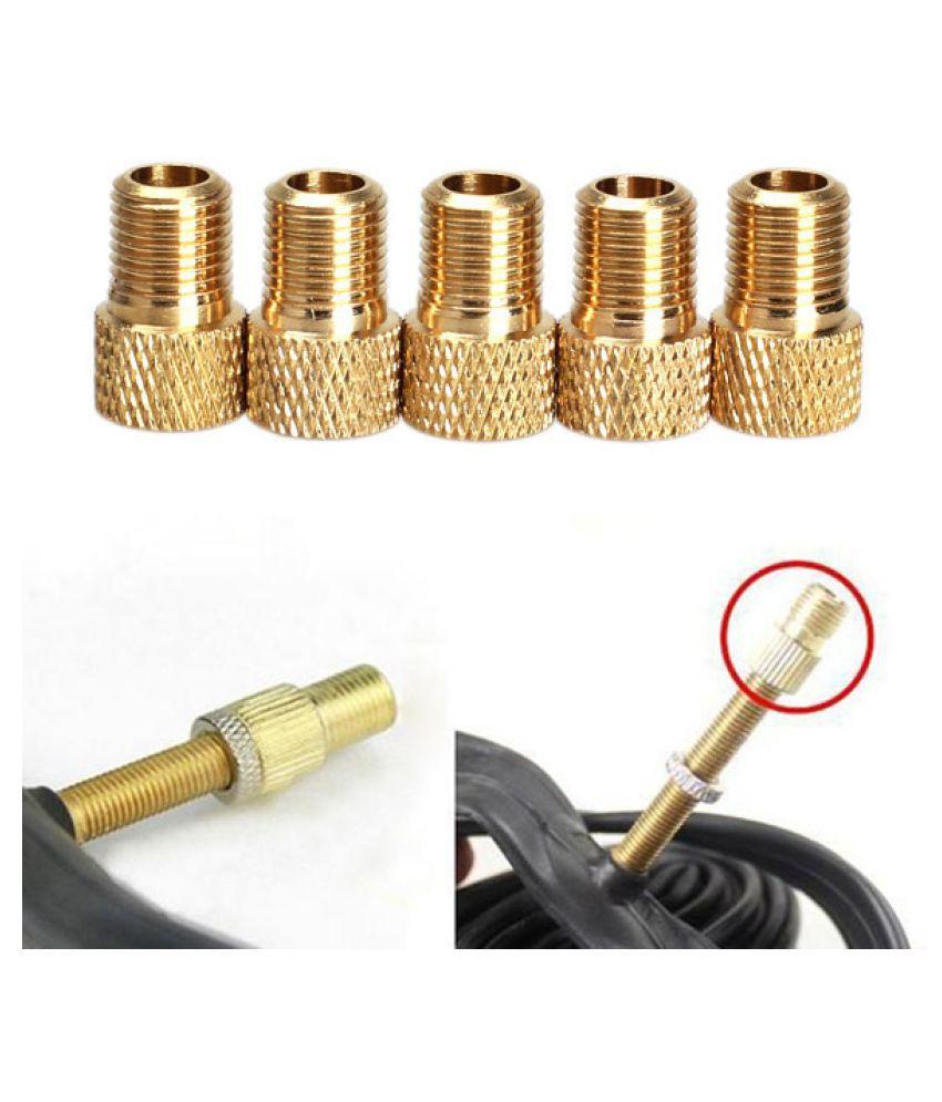 2 x Brass Adapter Presta to Schrader Bicycle Valve Converter Bike Pump Connector
