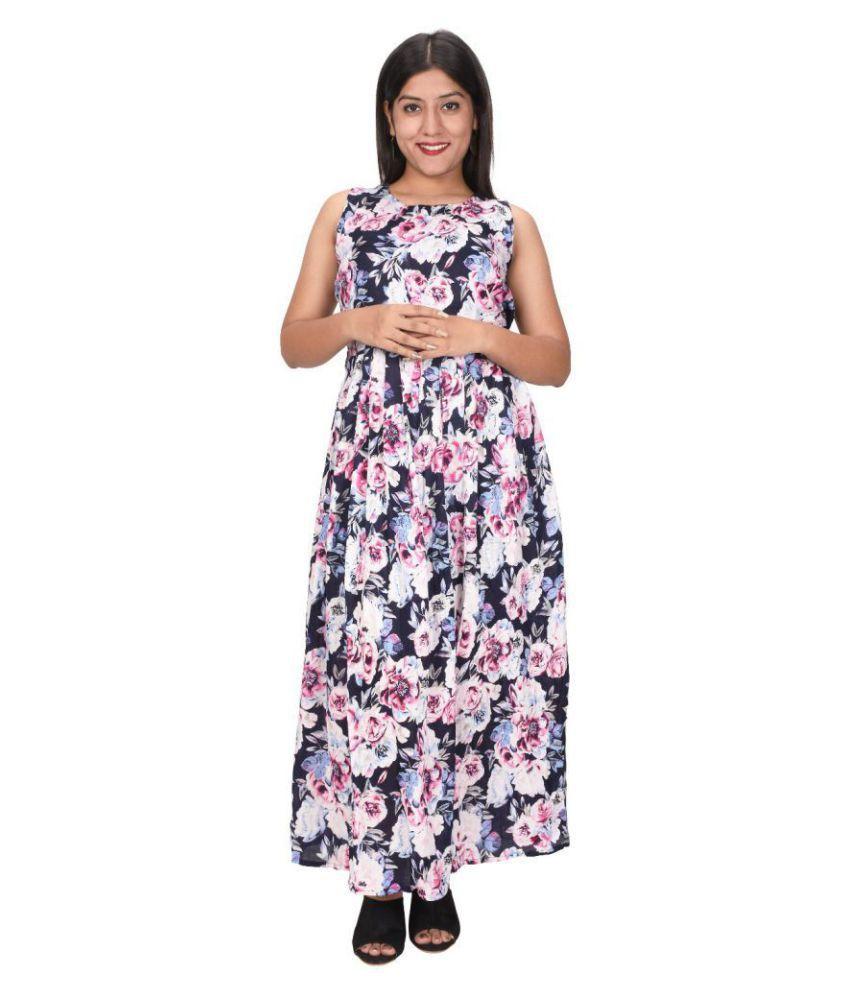 Bronze Cotton Multi Color A- line Dress