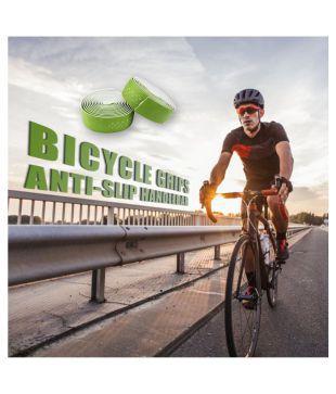 2pcs Cycling Bike PU Leather Handle Bicycle Grips Anti-slip Handlebar Tape Wraps
