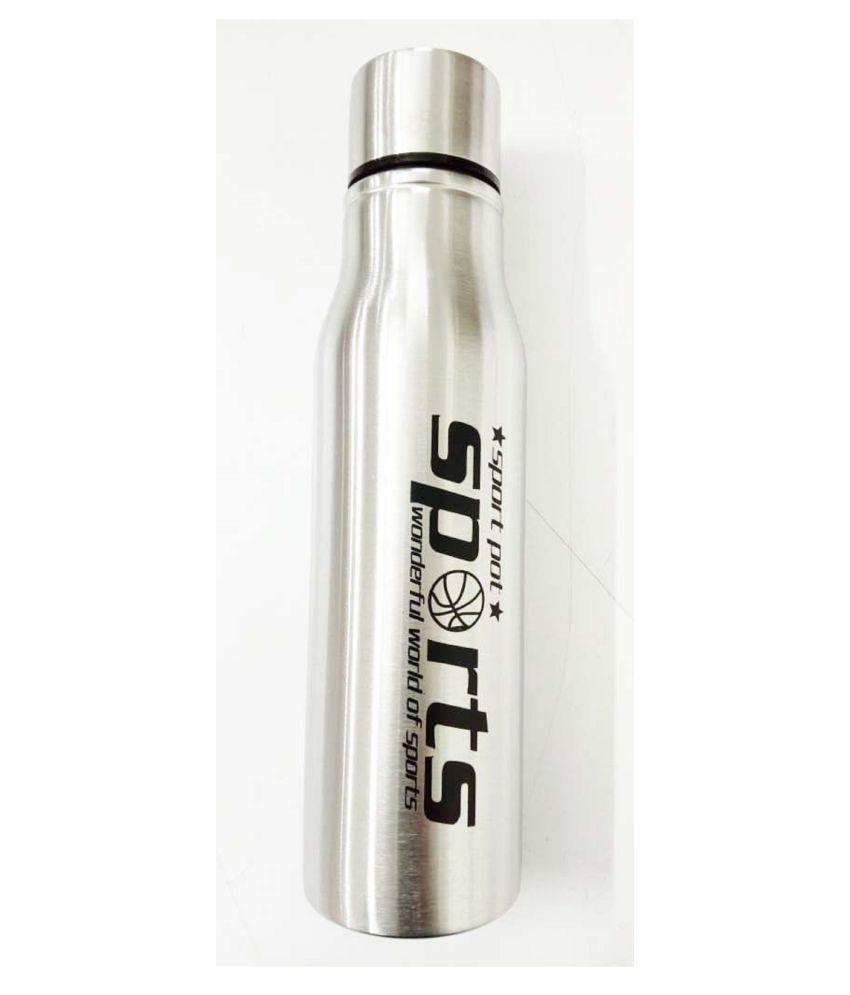 DOMUM Silver 750 mL Steel Water Bottle set of 1