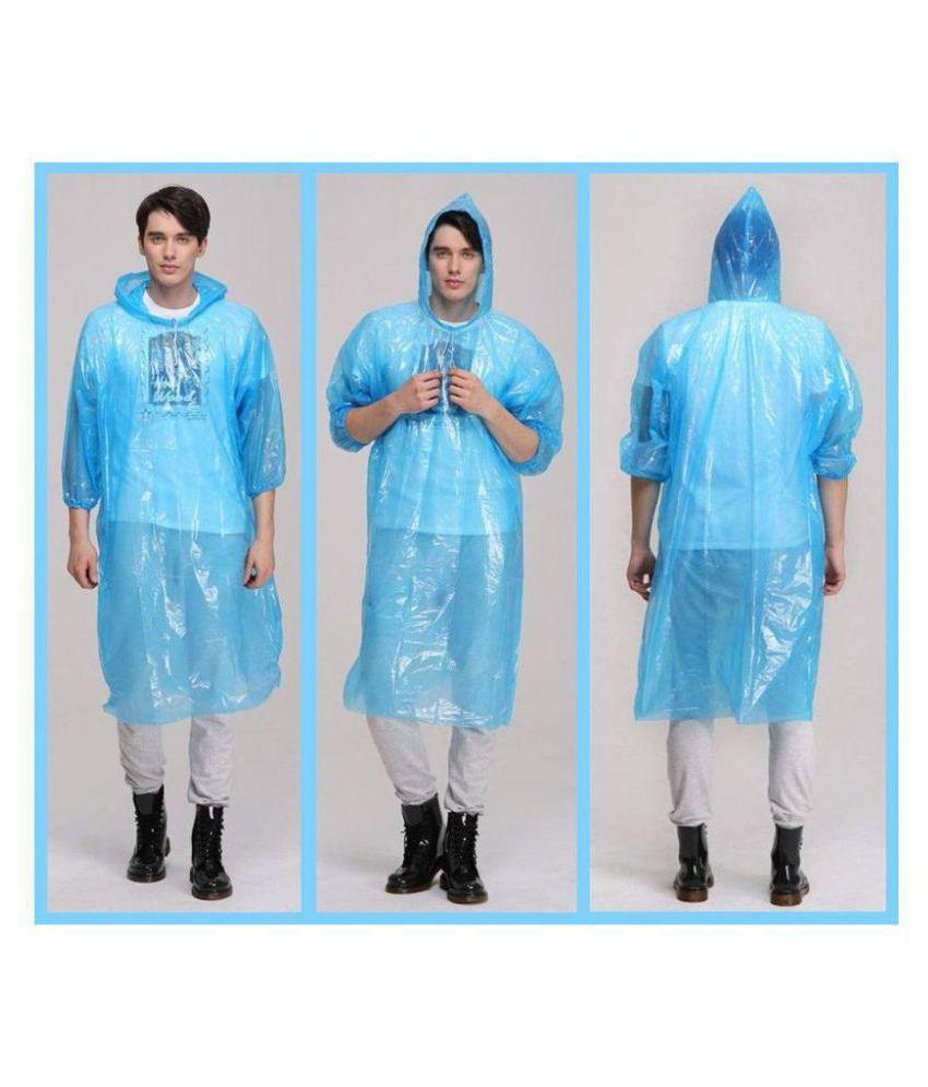 Dream VALUE Pocket Size Unisex Rain Coat Credit Card Sized Raincoat