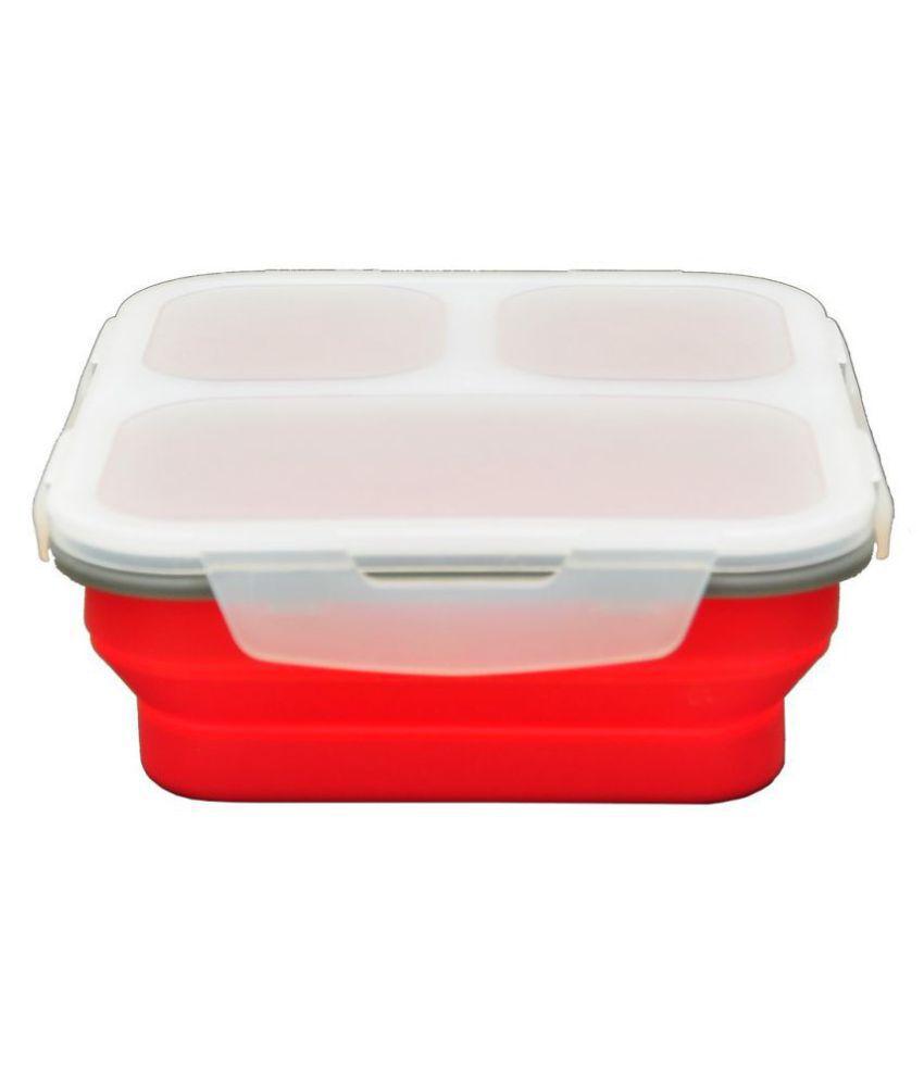 SiliO Red Silicone Lunch Box