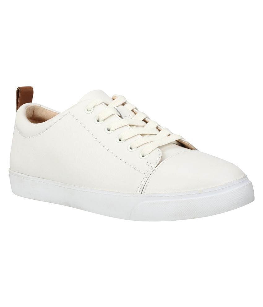Clarks White Casual Shoes