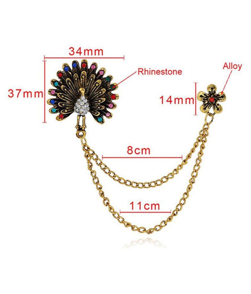Fashion jewelry Colored  peacock Cirystal brooches Brooch  (Multicolor)