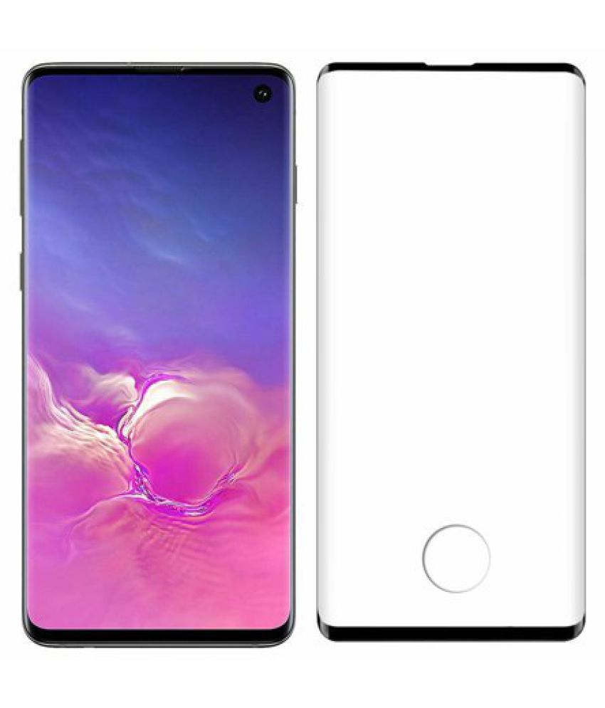 Samsung Galaxy S10 Plus Anti Shock Screen Guard By GLAZE UV Protection, Anti Reflection.