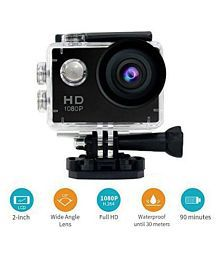 TICTOK Ultra HD 1080P Water Resistant With 2 inch Display & Full Acessories Sports and Action Camera 16 MP Action Camera