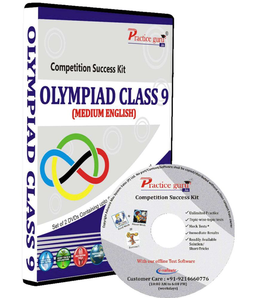 Practice Guru Test Series, Concept Videos, Study Notes  for Class 9 - Olympiads (IMO, NSO, IEO, NCO, NSTSE, NOTSE) DVD