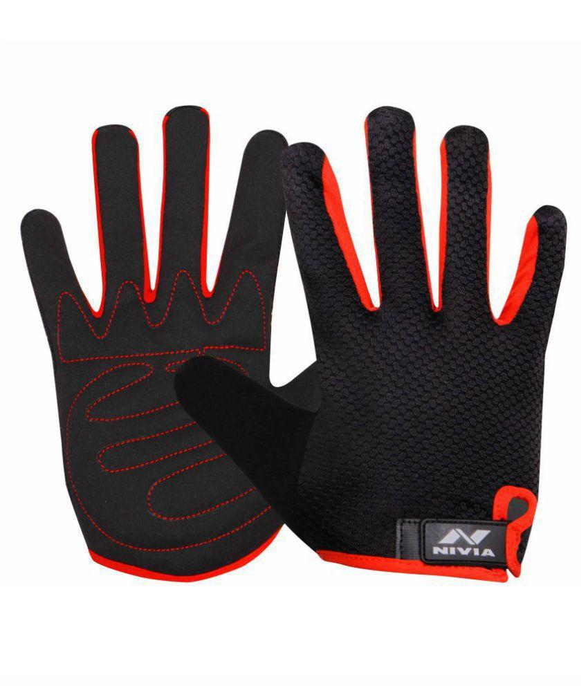 Nivia Black Gym Gloves