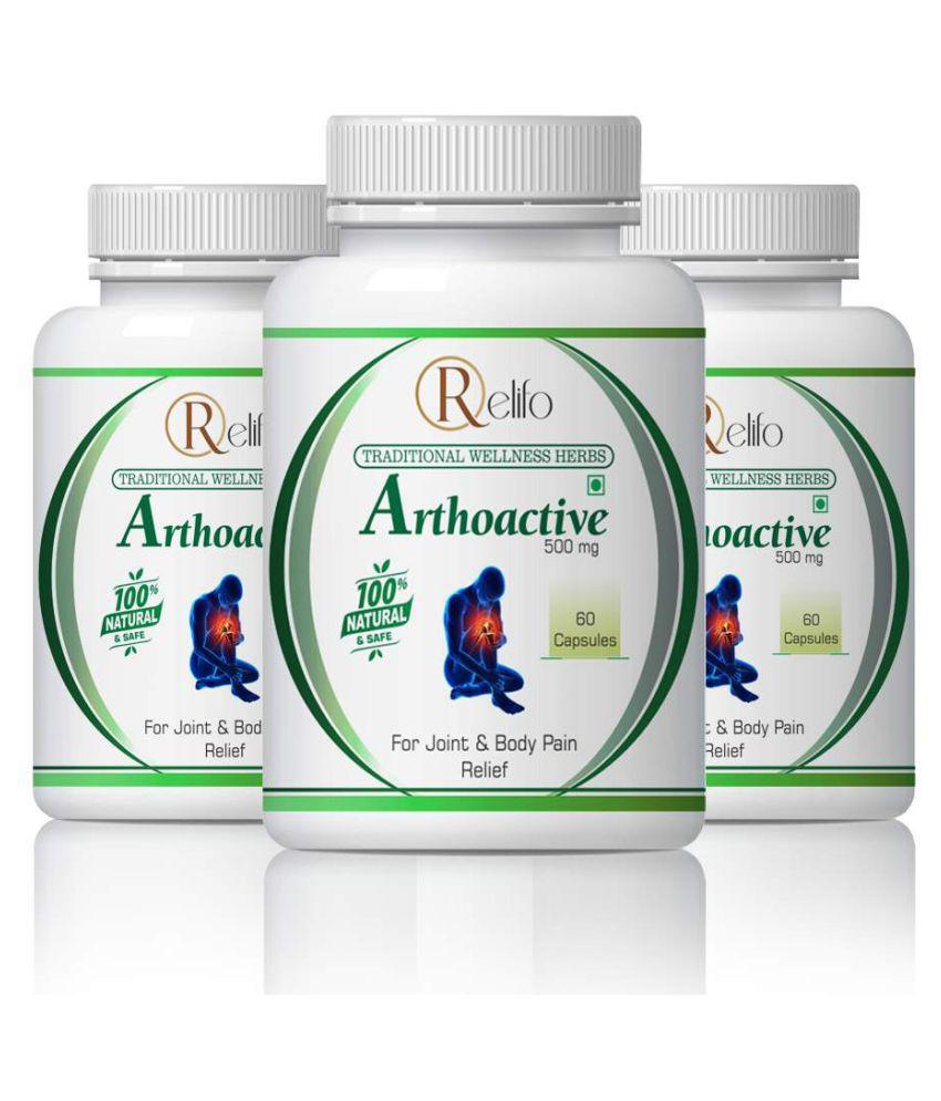 Relifo Arthoactiv Muscls & Arthiris Pain Relief Capsule 500 mg Pack of 3