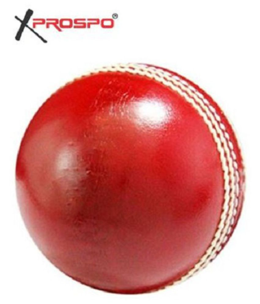 Xprospo Genuine Leather Cricket Balls  Red, Pack of 1