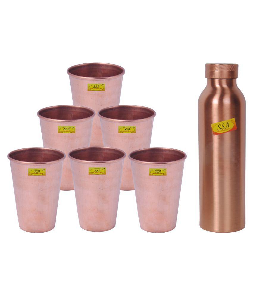 Shiv Shakti Arts Designer Drink Set 7 Pcs Juice Set
