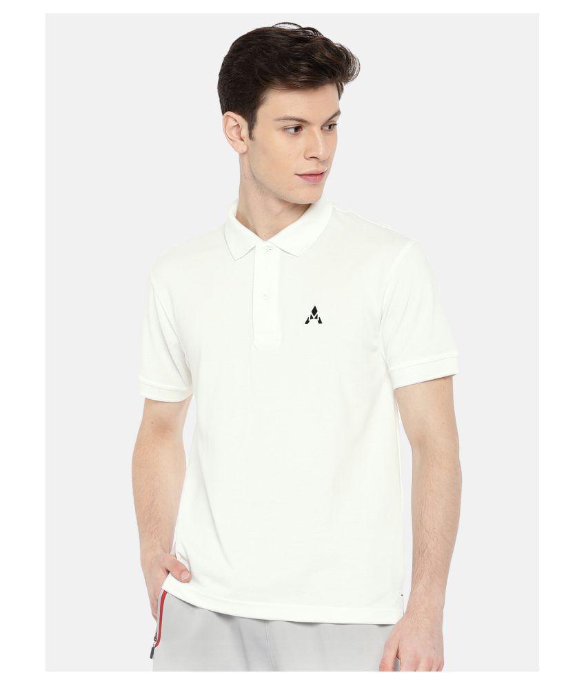Actimaxx Cotton Blend White Plain Polo T Shirt - Buy ...