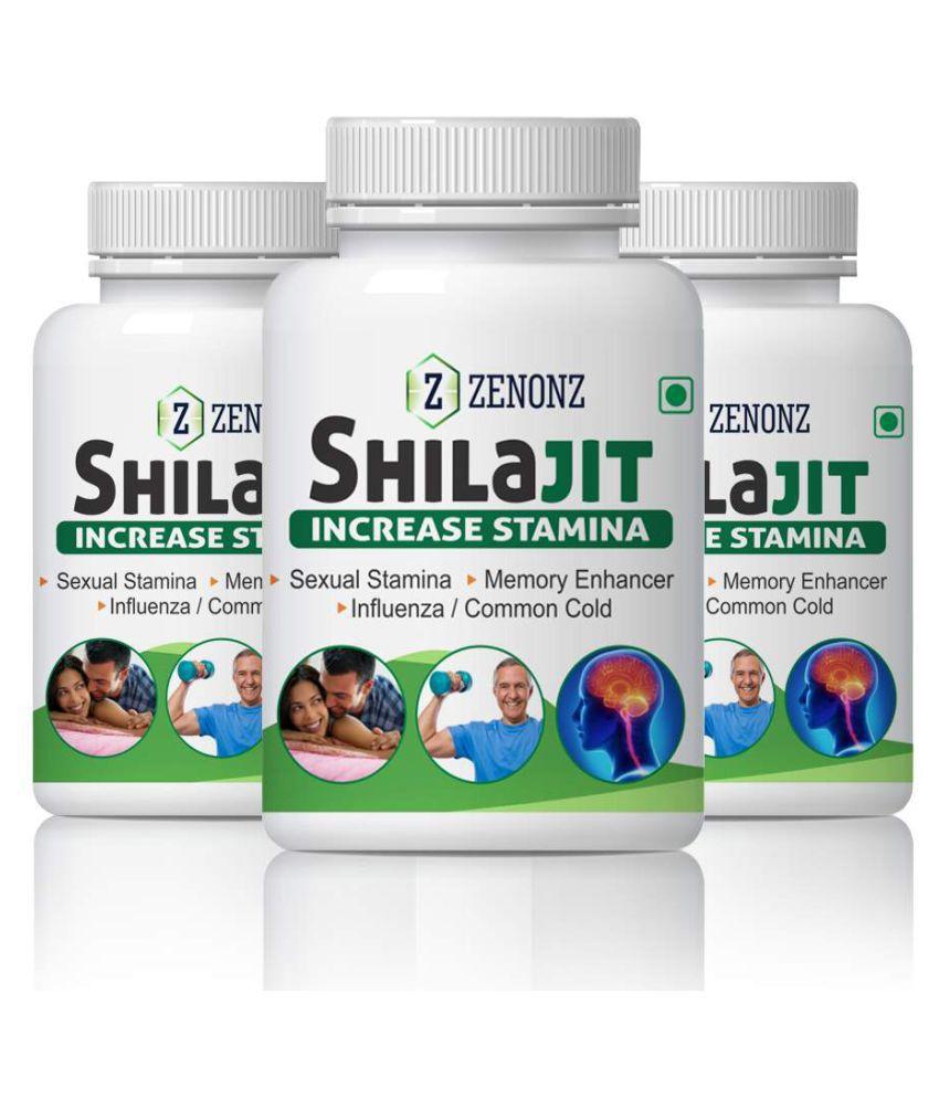 zenonz Shilajit Full Night Sex Of Couple Capsule 500 mg Pack of 3