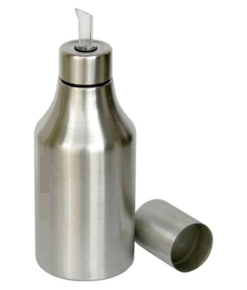 Krishi Krishi Steel Oil Container/Dispenser Set of 1 1000 mL