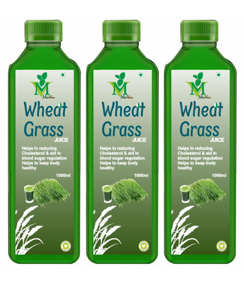 Mint Veda Wheat Grass Juice Health Drink 1 l Pack of 3