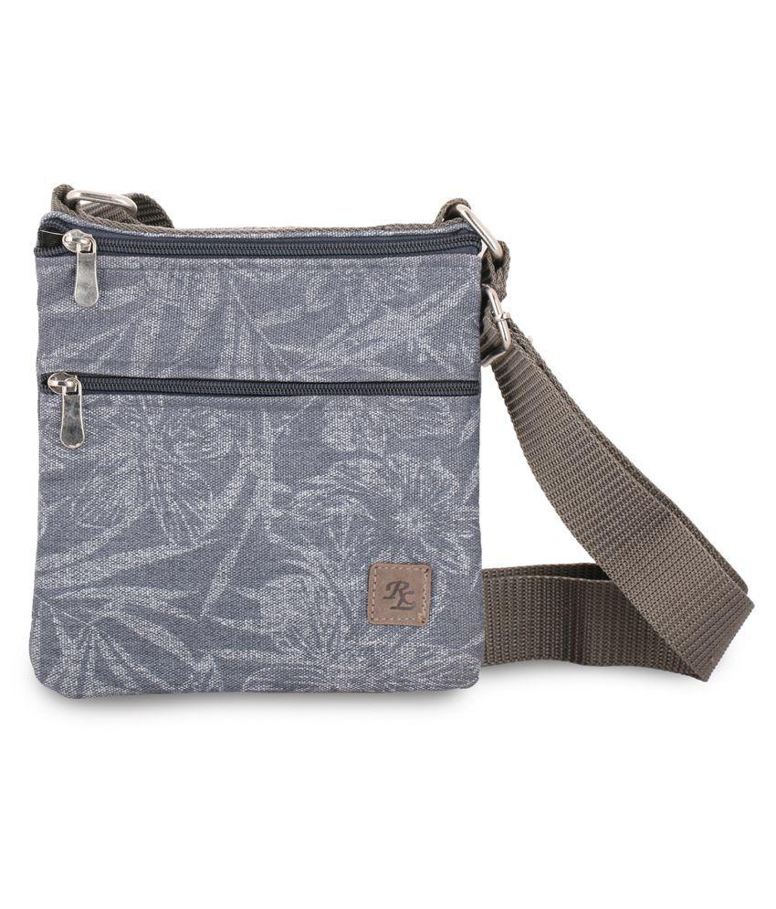 WalletsNBags Blue Canvas Casual Messenger Bag