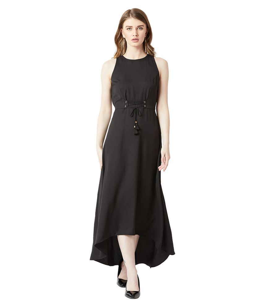 Miss Chase Crepe Black Asymmetric dress