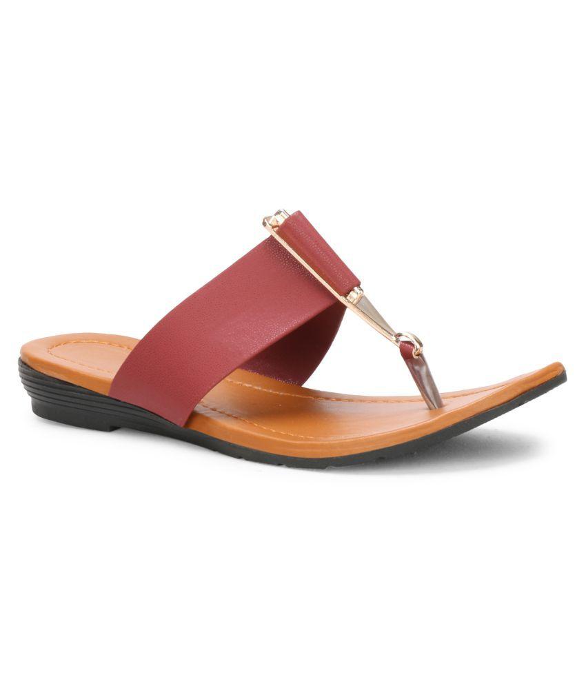 Koxko Maroon Slippers