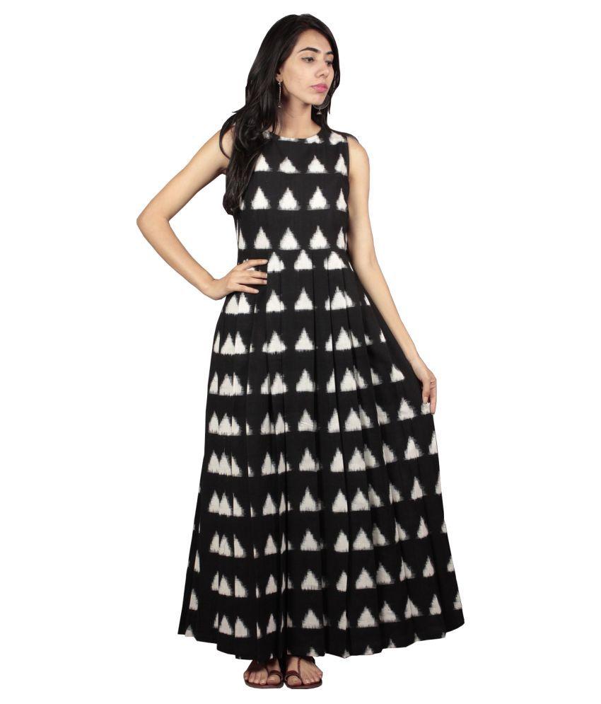 cheaper find workmanship best selection of 2019 Maxi Dress Black Cotton Gown