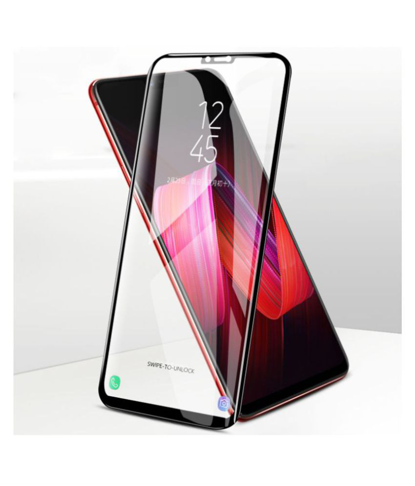 OnePlus 6 5D Tempered Screen Guard By GLAZE Full Glue with Precise Curve Edges
