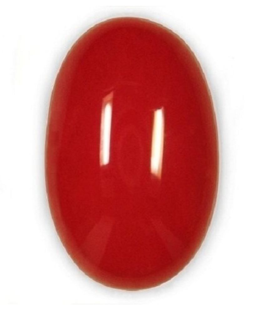 Certified Gems Gallery 8.55 -Ratti IGL Red Coral Semi-precious Gemstone